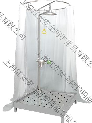 90906610-sl-dz304不锈钢复合式洗眼器(配备水帘)